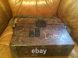 1940 Rare ww2 German Army Military Crank Field Phone Radio Model Bakelite Case