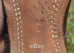 1940 WWII Era Sweden Original Army Soldier Leather Boots for German Wehrmacht 46