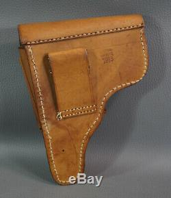 1943 WWII German Army Officers Walther PP PPK Pistol Gun Leather Holster Marked