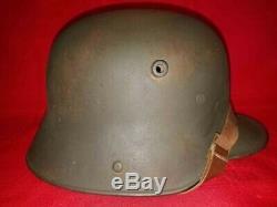 1oo% Original Ww2 Imperial German Army M/16 Soldiers Combat Helmet