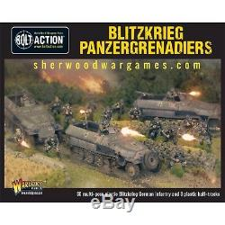 28mm Warlord German Blitzkrieg Panzer Grenadiers starter army. WWII Bolt Action