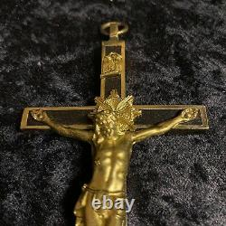 Antique 1940 German Military War Officer Crucifix WWII Army Pectoral Cross Relic