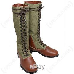DAK Tropical Tall Boots WW2 Repro Leather German Afrika Korps Army All Sizes