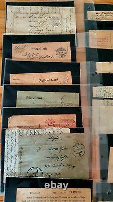 Estate collection 80+ German Fieldpost Letters & Postcards 1912 51 WW1 WW2 WK1