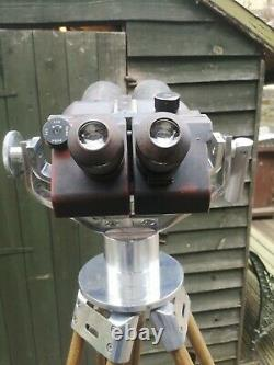 Flak Binoculars With Vintage Zeiss Tripod German WW2 Excellent Working Condition