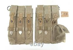 GERMAN ARMY WW2 WWII REPRO AFRIKAKORPS 9mm ammo pouches for 6 mags inv #CP
