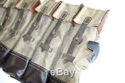GERMAN ARMY WWII REPRO KURTZ 8mm AMMO POUCHES AGED reiforced bottoms inv# CQ