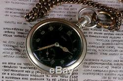 GRANA Pocket watch WWII RARE Military DH German Army Swiss Vintage 1940s WW2