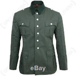 German Army Officers Gabardine Wool Tunic WW2 Repro Heer Uniform Jacket New