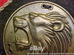 German Orig. Rare Pre/ Wwii Army Elite Freikorps. 900 Silver Lions Head Rauten