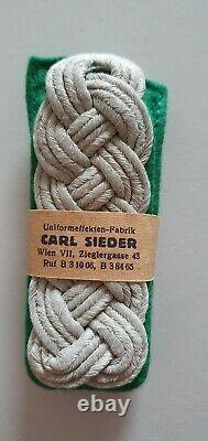 German WW2 Army Shoulder boards straps original officer mountain troops mint