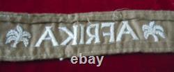 German World War II Army AFRIKA Officers Cuff Title (Genuine)