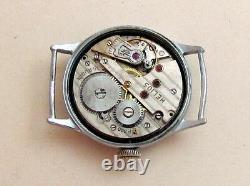 HELIOS DH D30414H WWII Swiss for German Army Wehrmaht Military Wristwatch P300