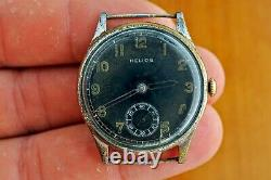 HELIOS RARE Wehrmacht German Army WWII Vintage 1939-1945 Swiss Military Watch