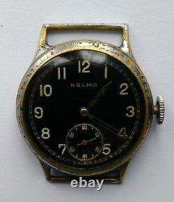 HELMA Wristwatch German Army Wehrmacht of period WWII. Military. Not Working