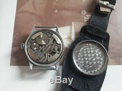 Helios Dh Swiss Wrist Watch For German Army Ww2 Ww II For Men 15 Jewels