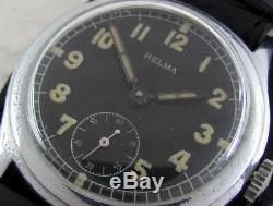 Helma D93469H Wehrmacht German Army WWII Vintage 1939-1945 Swiss Military Watch
