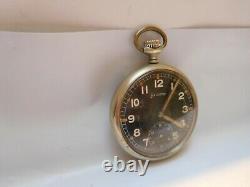 Helvetia D. H. Dienstuhr Heer Militäruhr German Army WW2 Military Pocket Watch