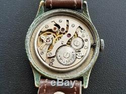 Helvetia DH SWISS WWII War Military Pilot German Army Black vintage Wrist Watch