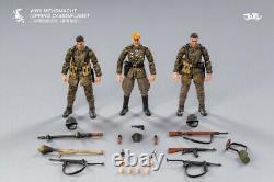 JOYTOY 1/18 WWII German Army Soldier Figure Set Camouflage Trio Officer Soldier