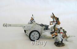 King & Country Ww2 German Army Ws018 W Winter Pak 40 Anti Tank Gun & Crew Mib