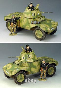 King & Country Ww2 German Army Ws125 Panhard Armored Car Mib