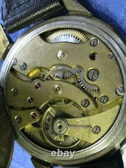 LIP Military Style WWII German Army 1940s Vintage Swiss men's Wristwatch