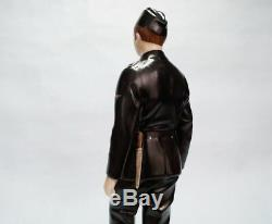 Nymphenburg German soldier figure in black uniform of Army WWII 1941