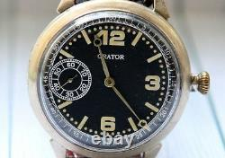 ORATOR Military for German Army WWII Silver Swiss vintage men's mechanical Watch