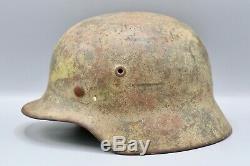 Original German WWII M40 Army Camo Helmet