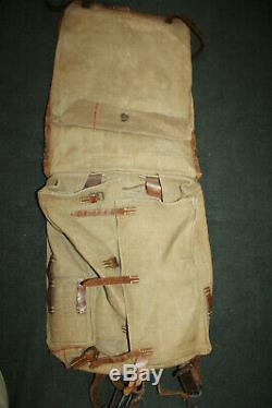 Original Late WW2 German Army M34 Pony Fur Back Pack withStraps, 1944 dated