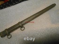 Original WW II German Army Officers Dress Dagger Metal Scabbard