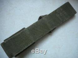 Original WW2 GERMAN ARMY DAK afrikakorps EARLY pea GREEN TROPICAL WEBBING FROG