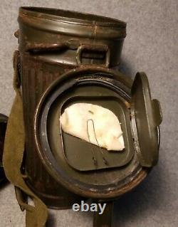 Original WW2 German Army Gas Mask and Can