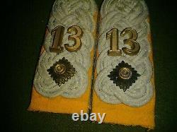 Original WW2 German Army Insignia Set Reserve Lt. Colonel 13th Cavalry Rgt