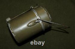 Original WW2 German Army M31 Two Piece Mess Kit, Matching Stamped TSD 41, VG