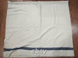 Original WWII German Army Blanket Blue/Red Stripe Wehrmacht Heer AS-IS Wool