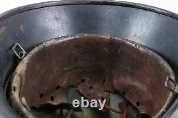Original WWII German Army Helmet With Post War Hand Painted Art Motorcycle