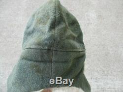 Original WWII German Army Rabbit Fur Winter Hat