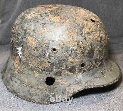Original WWII German M35 Heer Army Helmet EF62 Relic Eastern Front