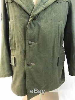 Original Ww2 German Tunic Gebirgsjager Wool Wwii Army Heer Moutain