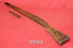Original Wwii German Army Wooden Rifle Stock K98 Mauser With Hand Guard