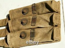 Original Wwii Magazin Pouch Leather Canvas Ww2 Waa 727 Code Dkk 1943 German Army