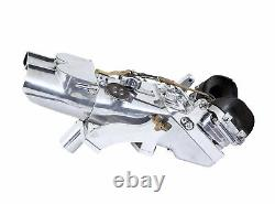 Pair Of Ww2 Polished Steel German Rangefinder Flak Binoculars