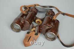 RARE Late War WWII German 6x30 Bakelite Dienstglas Binoculars CXN Busch WW2 1944
