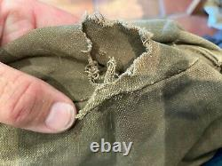 RARE Normandy used WW2 German Army Combat Engineers side bag barn find