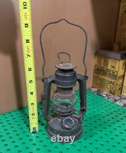 RARE etched globe Feuerhand 75 Atom WWII Lantern German Army Vintage ww2
