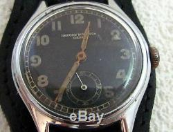 RECORD D508695 Swiss for German Army WWII Wehrmaht Military Watch Geneve c. 022K