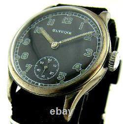 Rare GLYCINA DH wristwatch German Army Wehrmacht of period WWII. Military