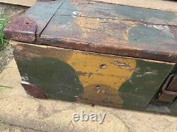 Rare German Army WW2 Normandy Camoflauged L. F. H 18 1938 Dated Box